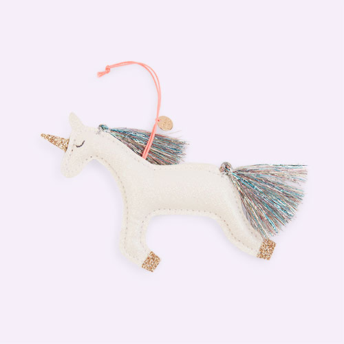 White Meri Meri Unicorn Tree Decoration