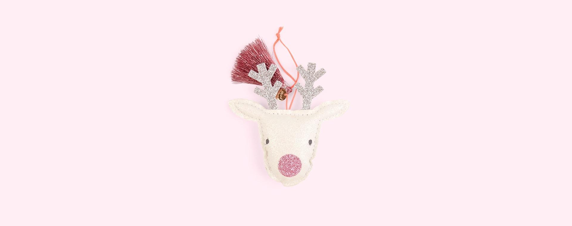 White Meri Meri Reindeer Tree Decoration