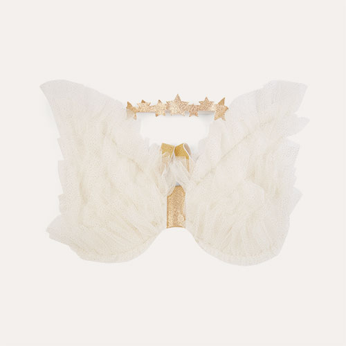 White Meri Meri Tulle Angel Wings Dress Up