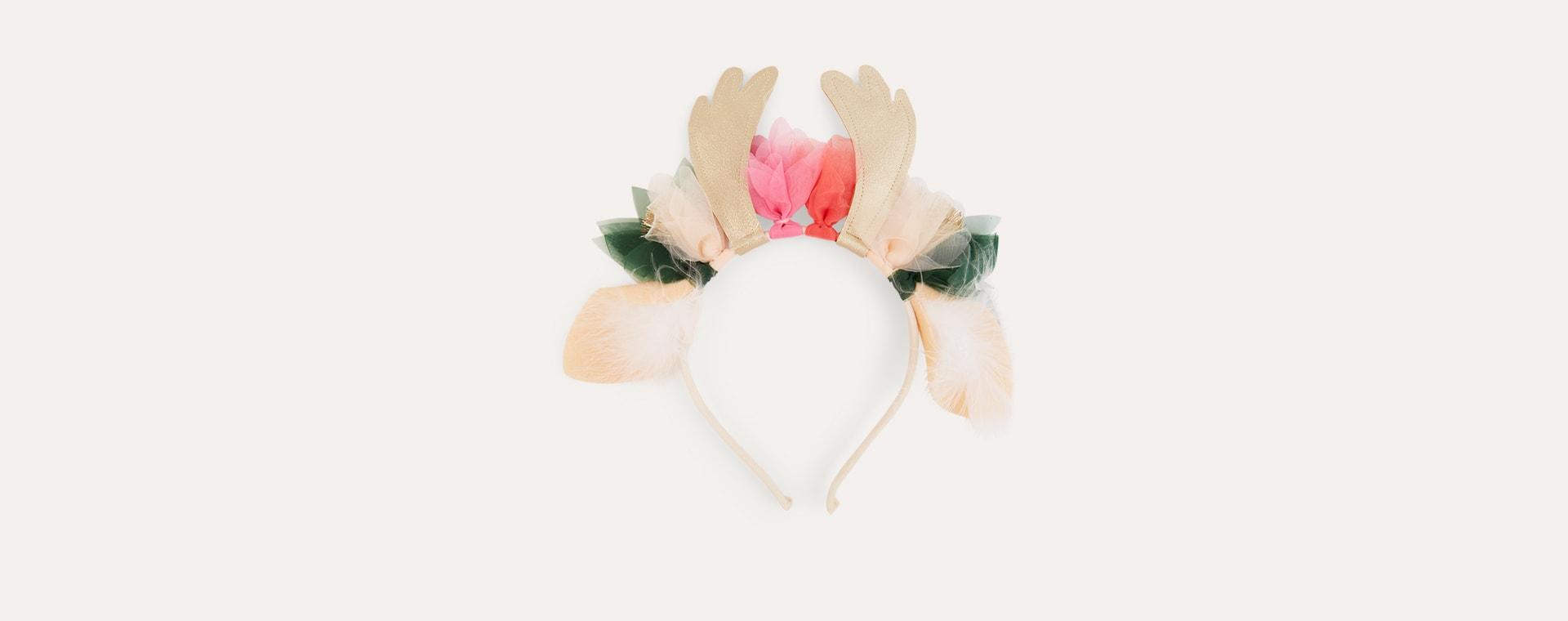 Gold Meri Meri Floral Deer Headband
