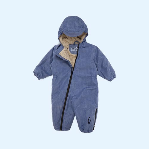 Light Denim GOSOAKY Roger Rabbit Unisex Waterproof Bomber Onesie