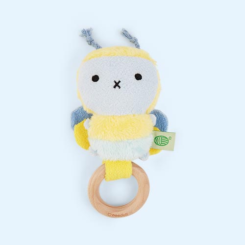 Yellow Noodoll Ricebee Rattle