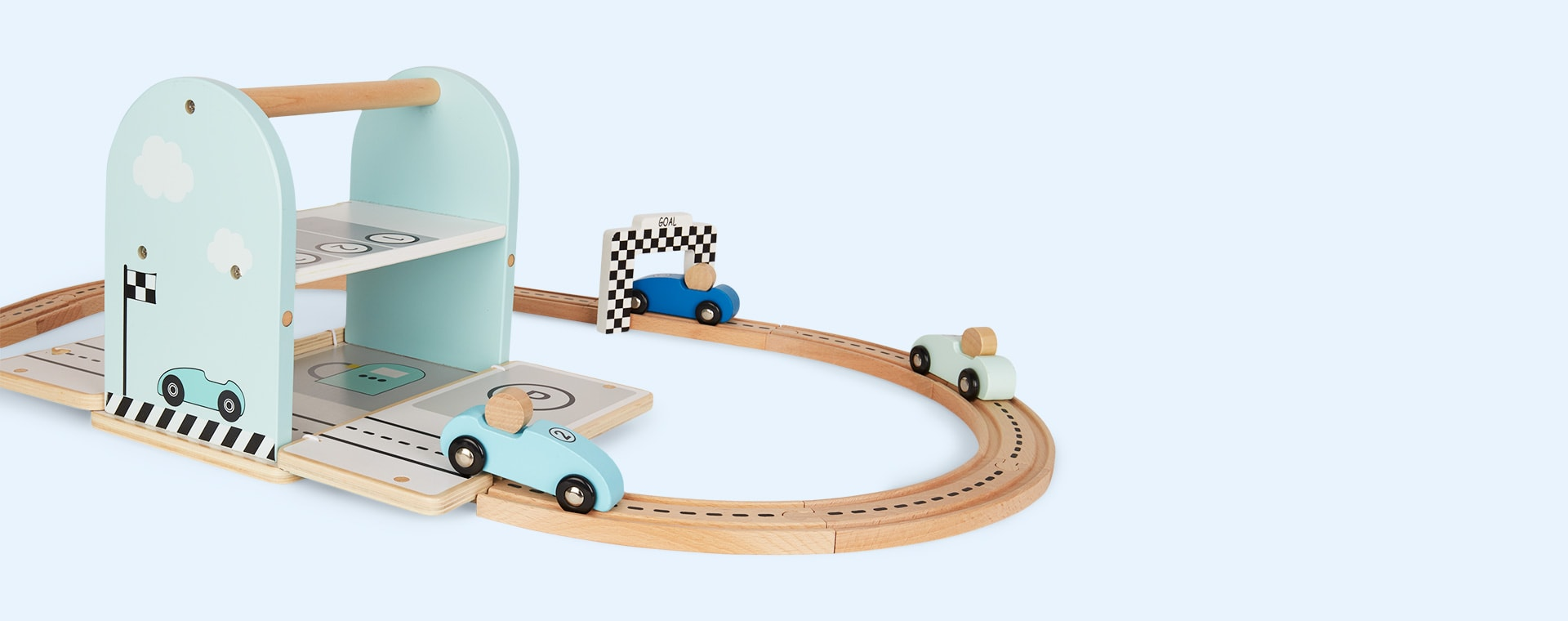 Blue Jabadabado Car Racing