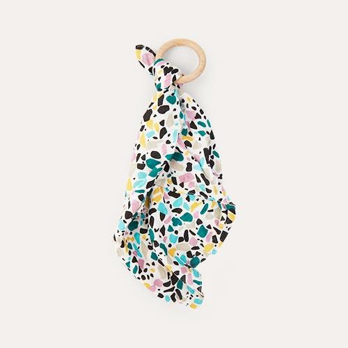 Terrazzo Etta Loves Teething Comforter