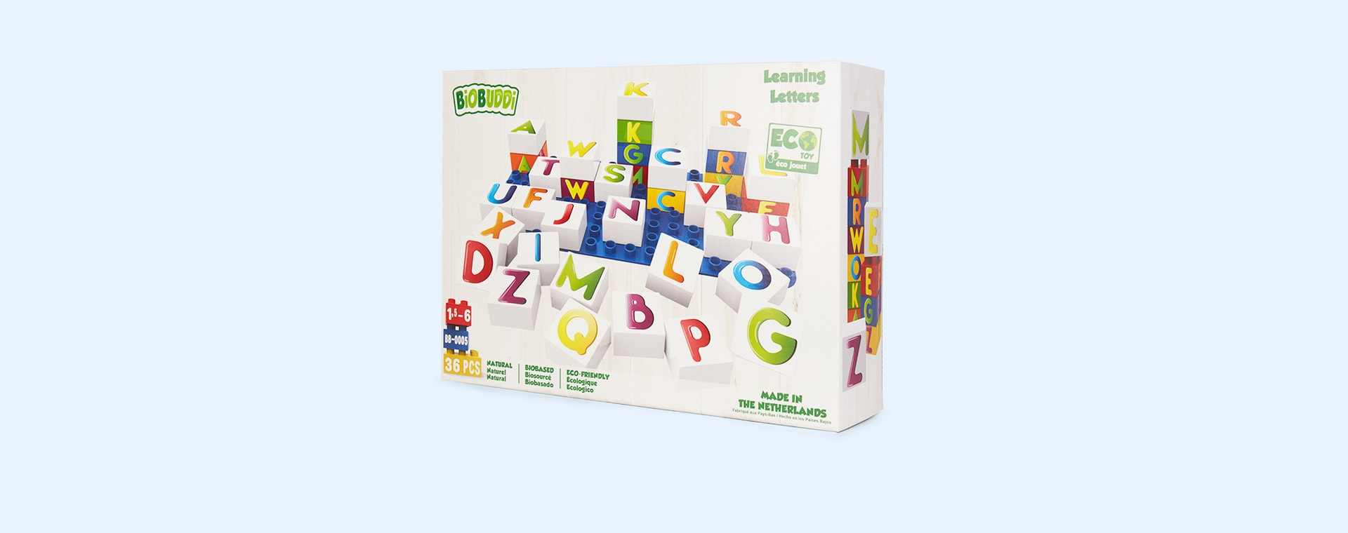 Letters BiOBUDDi Learning Blocks