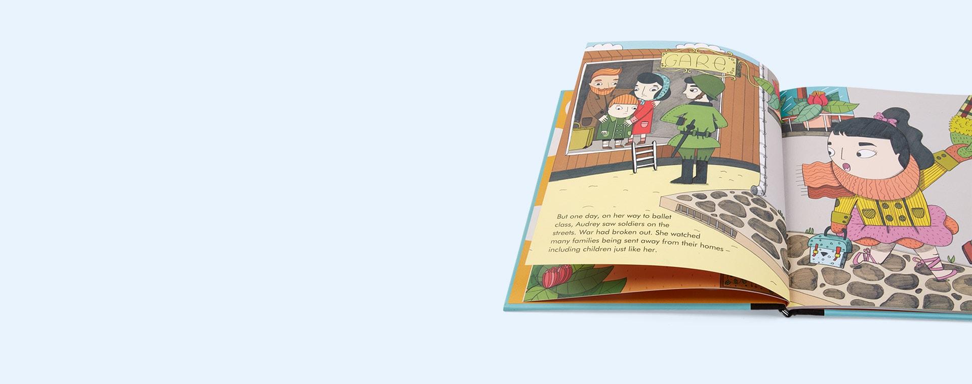Blue bookspeed Little People Big Dreams Audrey Hepburn