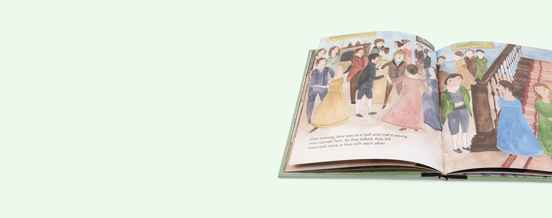 Green bookspeed Little People Big Dreams Jane Austen