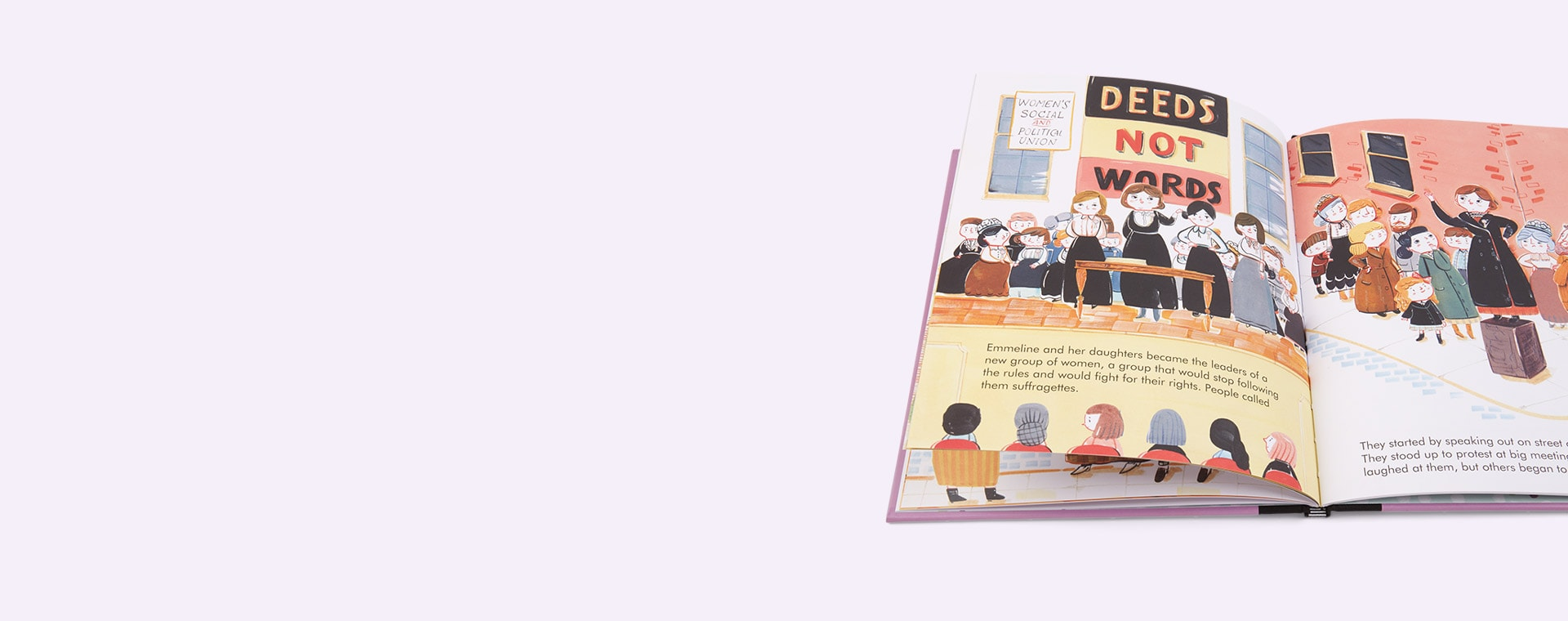 Purple bookspeed Little People Big Dreams Emmeline Pankhurst