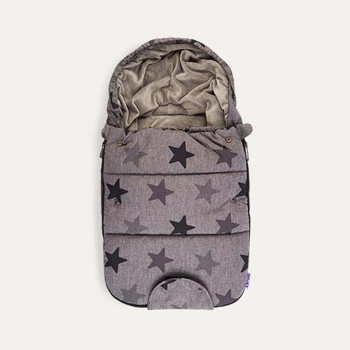 Grey Stars Dooky Newborn Footmuff