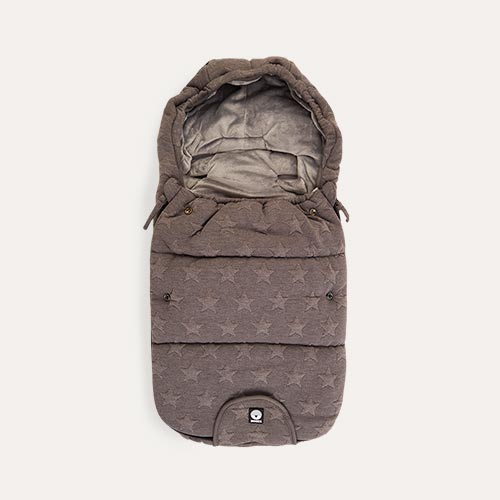 Knitted Grey Star Dooky Newborn Footmuff