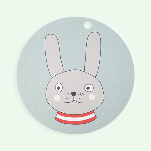 Rabbit OYOY Round Placemat