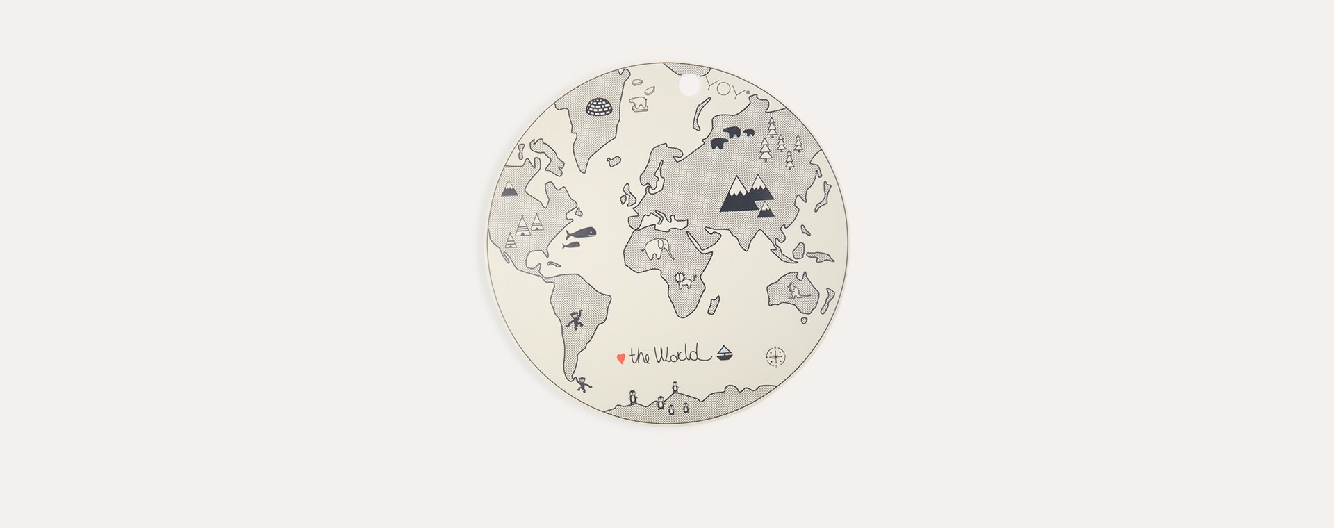 World OYOY Round Placemat