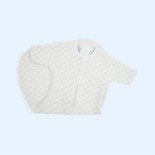Cream/Mint stitch aden + anais Snug Fit Sleeved Sleeping Bag