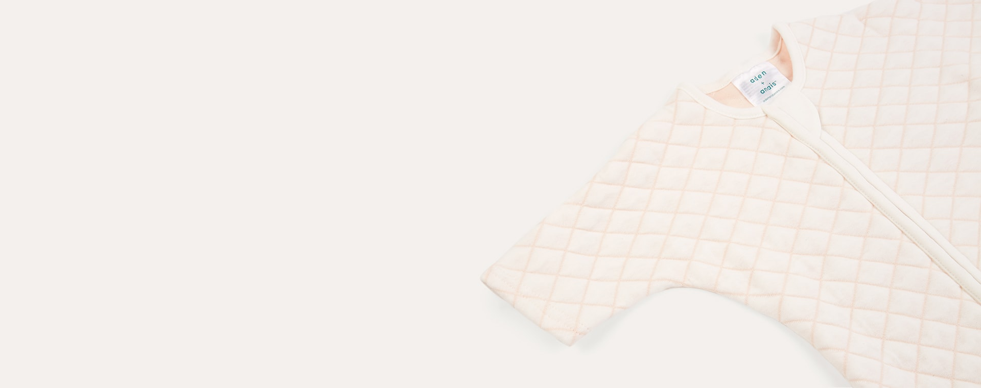 Cream/Pink Stitch aden + anais Snug Fit Sleeved Sleeping Bag
