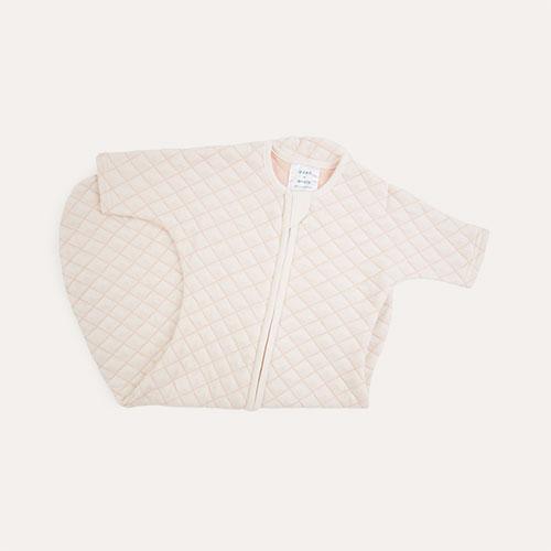Cream/Pink Stitch aden + anais Snug Fit Sleeved Sleeping Bag