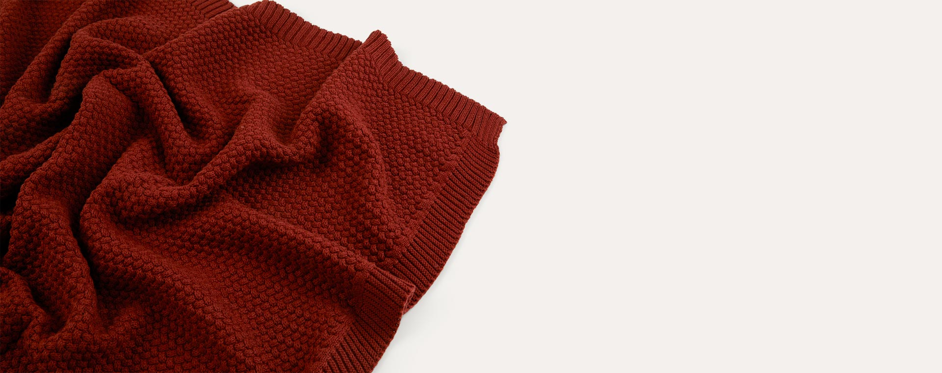 Burnt Sienna Avery Row Knitted Blanket