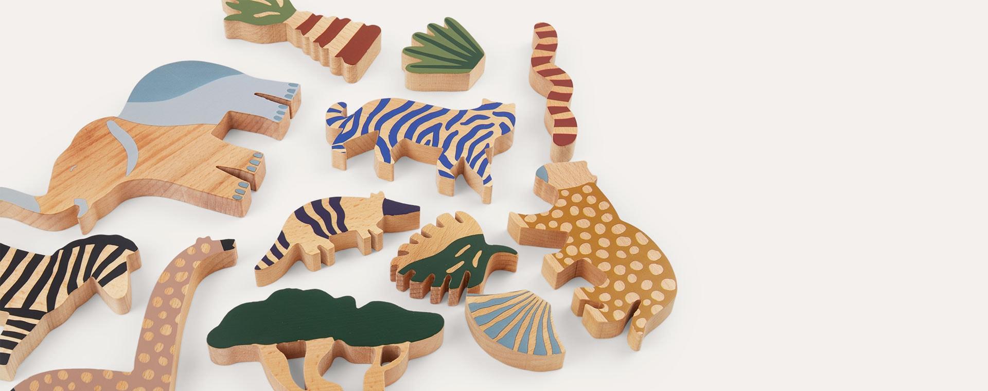 Neutral Ferm Living Safari Animal Box Set of 12