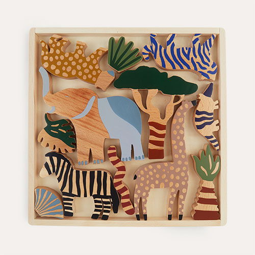 Neutral Ferm Living Safari Animal Box Set of 12