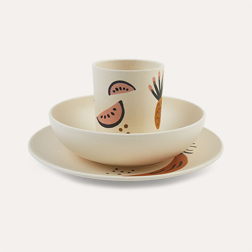 Off White Ferm Living Fruiticana Bamboo Dinner set
