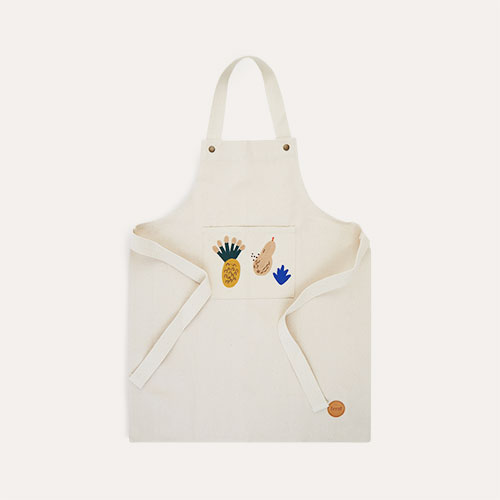 Off White Ferm Living Kids Apron Fruiticana