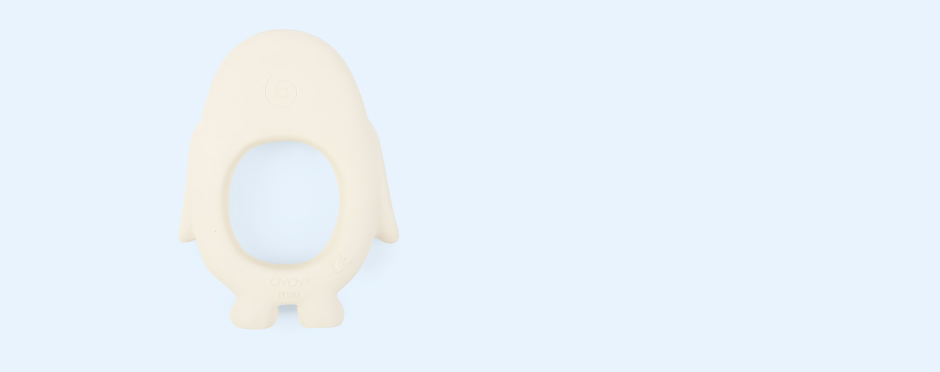 White OYOY Penguin Baby Teether