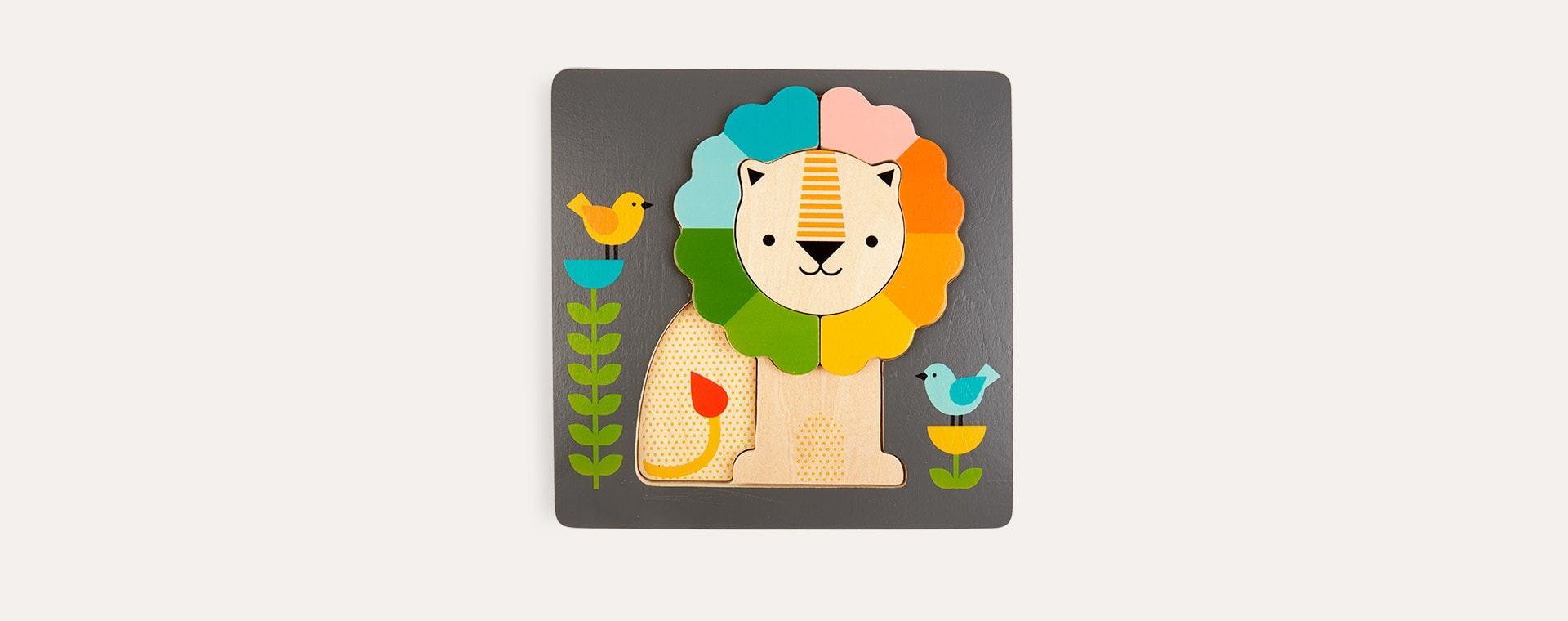 Multi Petit Collage Little Lion Chunky Wood Puzzle