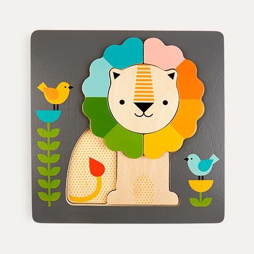 Multi Petit Collage Little Lion Chunky Wood Puzzle