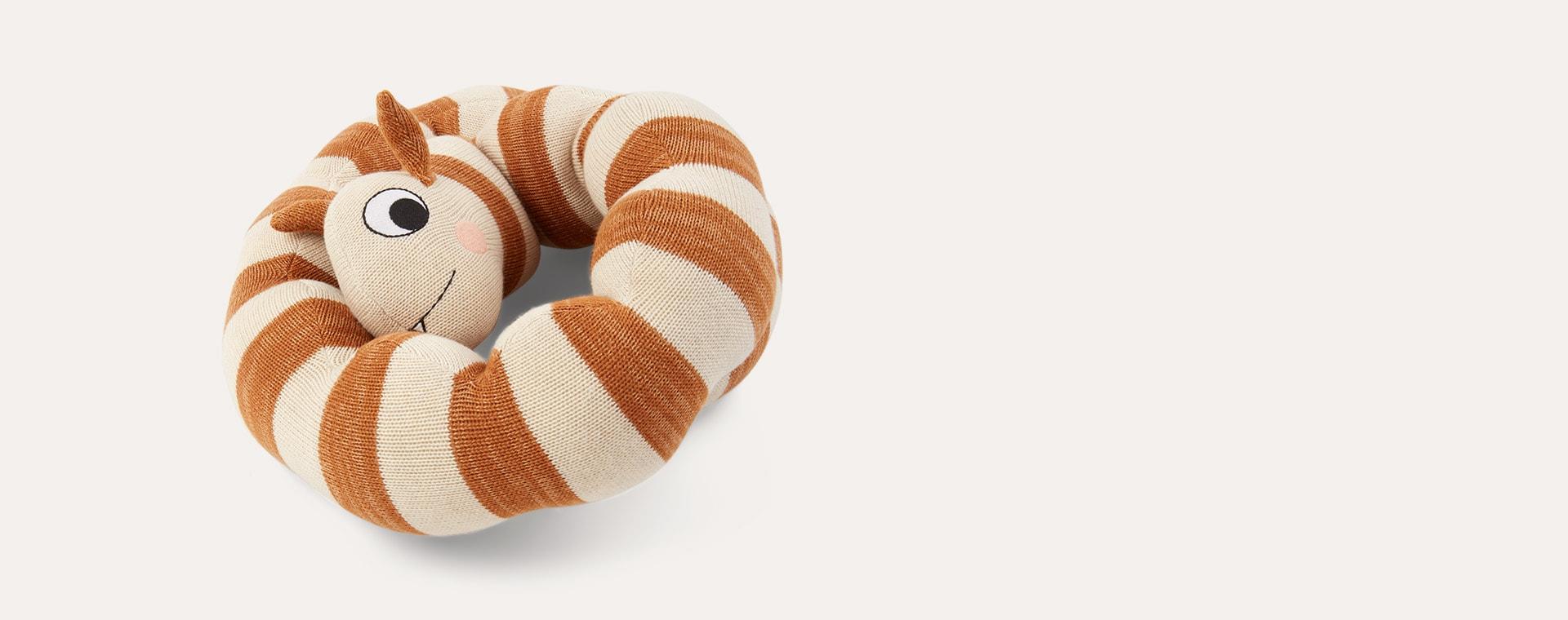 Cream OYOY Leo Larva Figure