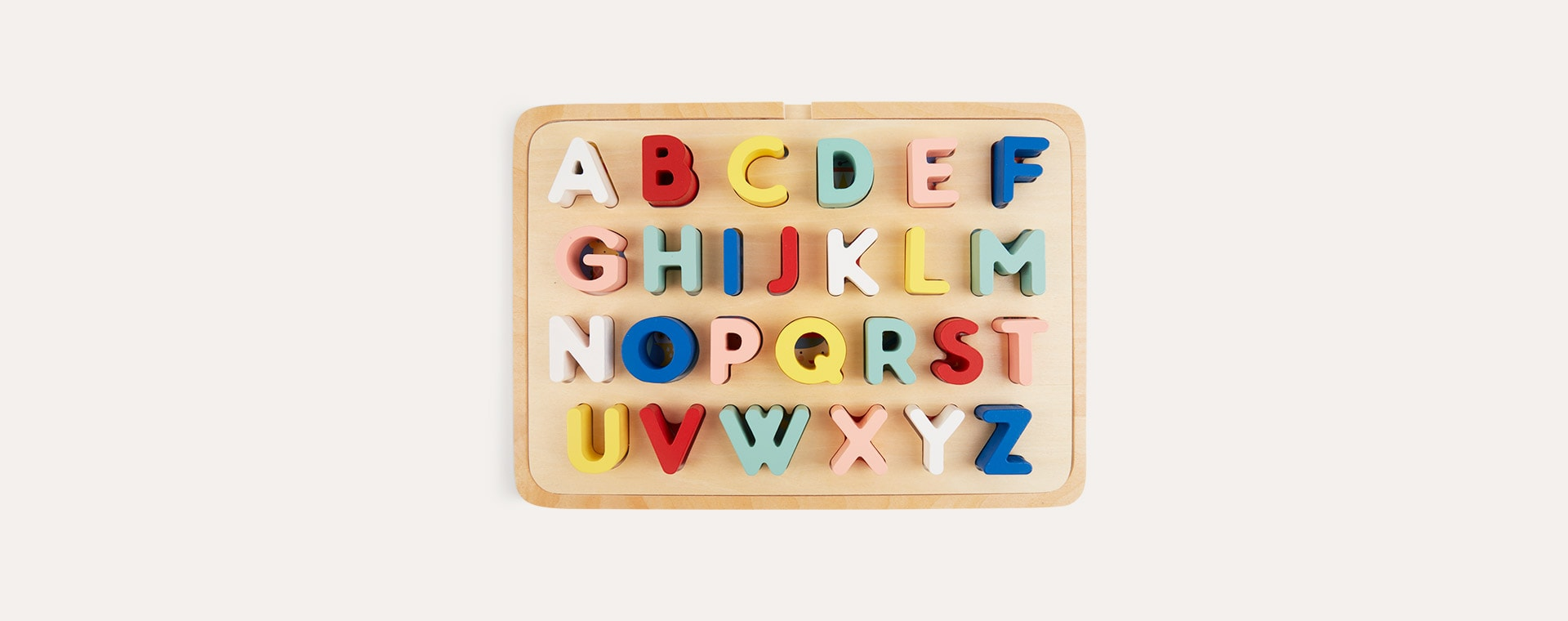 Multi Petit Collage Multi-Language Alphabet Wooden Tray Puzzle