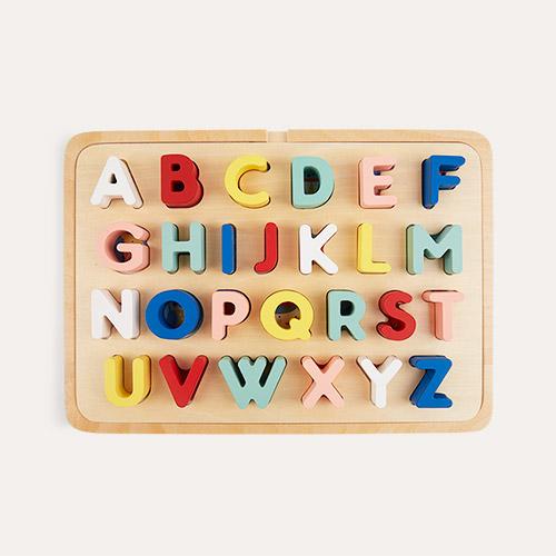 Multi Petit Collage Multi-Language Alphabet Wooden Tray Puzzle