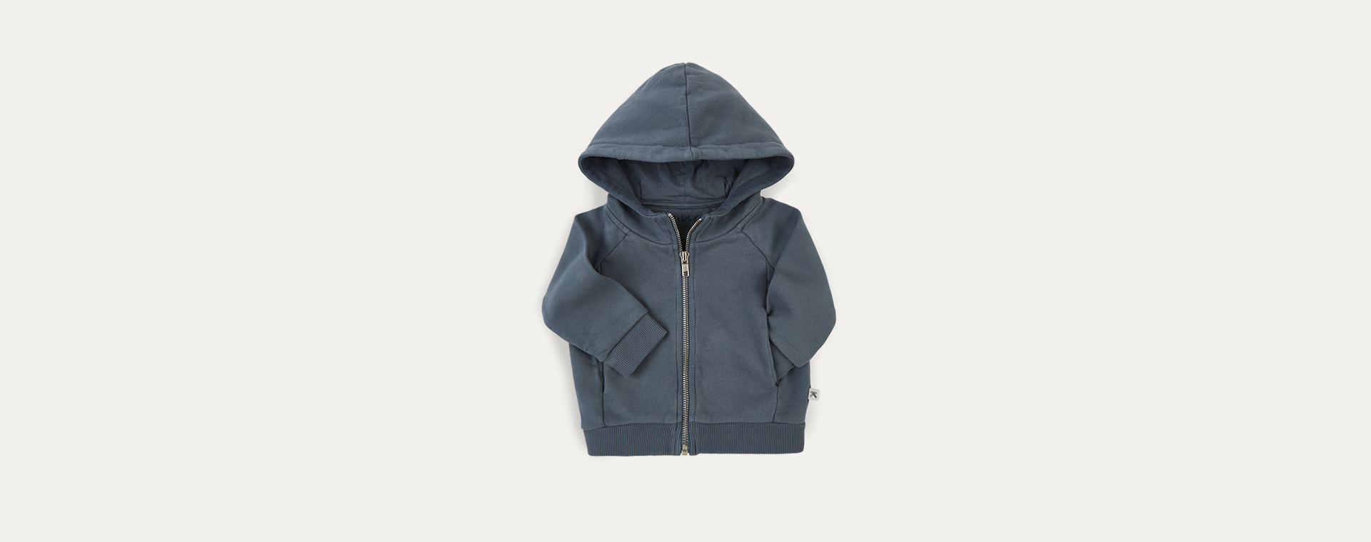 Teal KIDLY Label Zip-through Hoodie