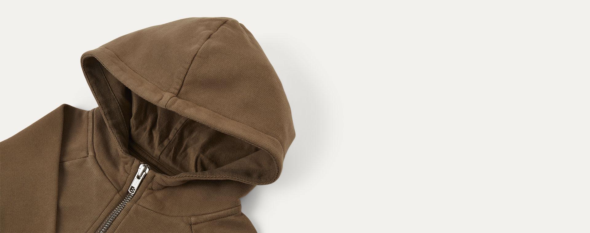 Camel KIDLY Label Zip-Through Hoodie