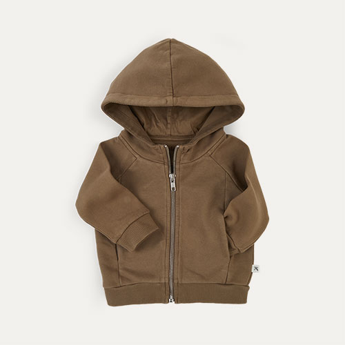 Camel KIDLY Label Zip-through Hoodie