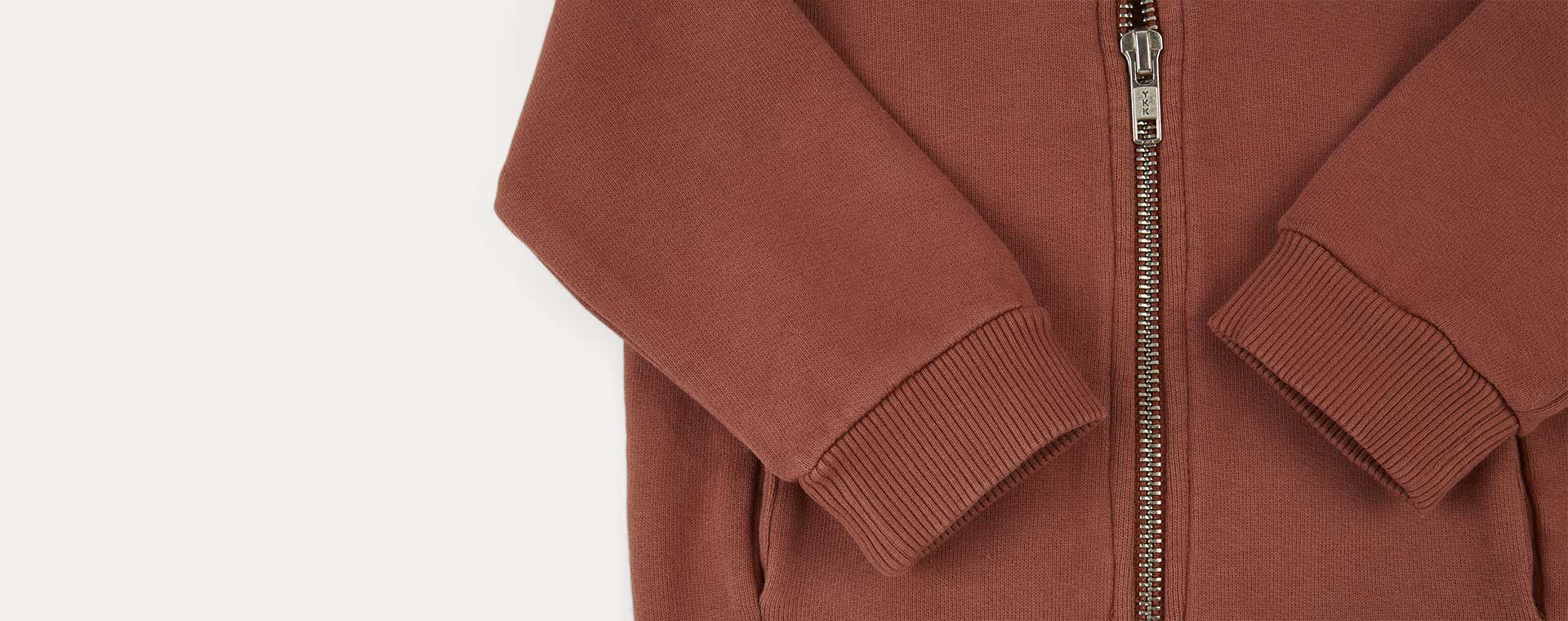Copper KIDLY Label Zip-through Hoodie