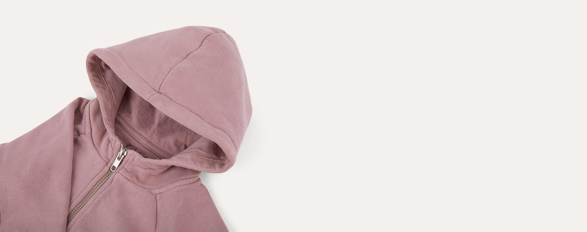 Woodrose KIDLY Label Zip-Through Hoodie
