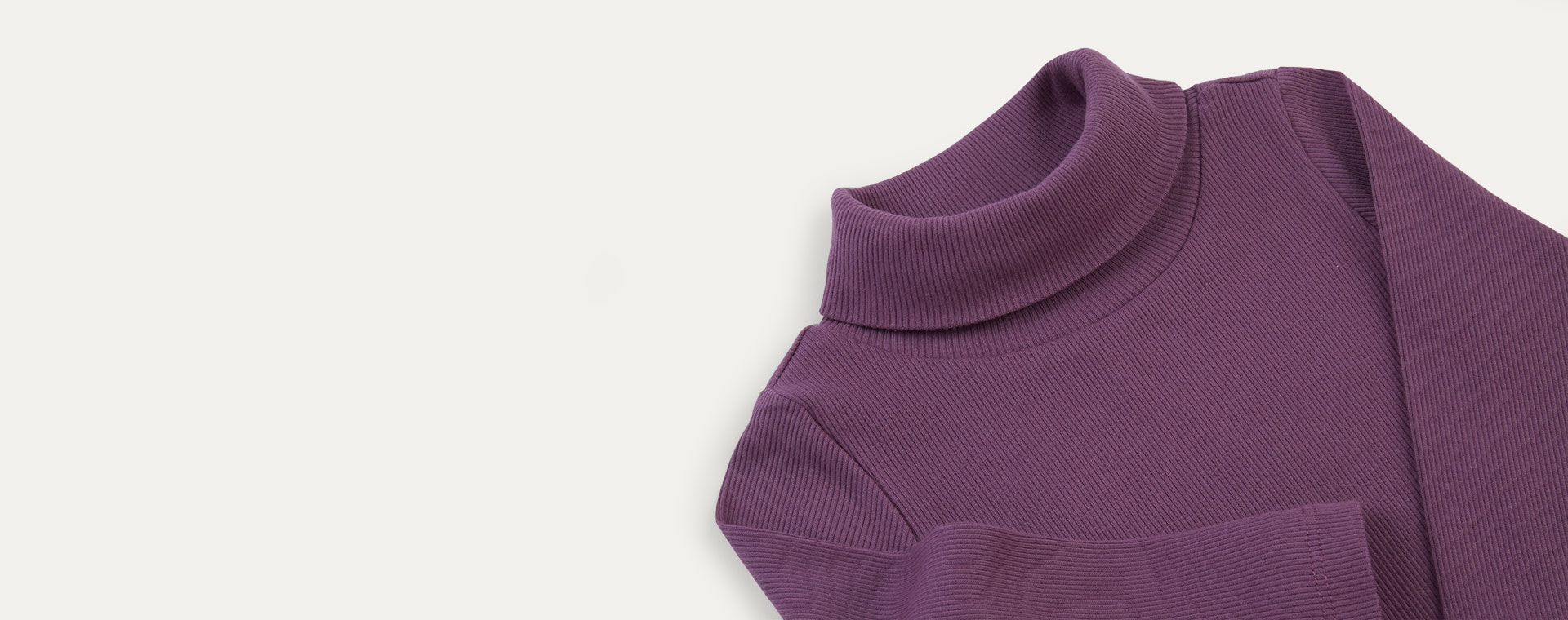 Grape KIDLY Label Ribbed Roll Neck