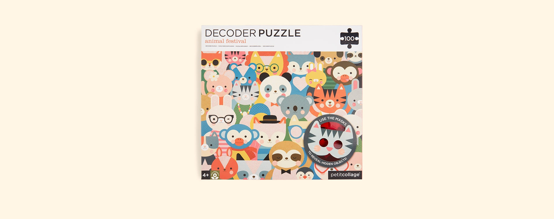 Animal Festival Petit Collage Decoder Puzzle
