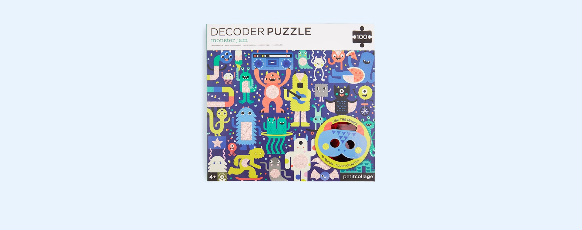 Monster Jam Petit Collage Decoder Puzzle