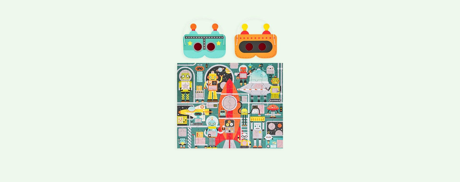Robot Factory Petit Collage Decoder Puzzle