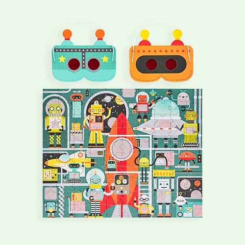 Robot Factory Petit Collage Decoder Puzzle