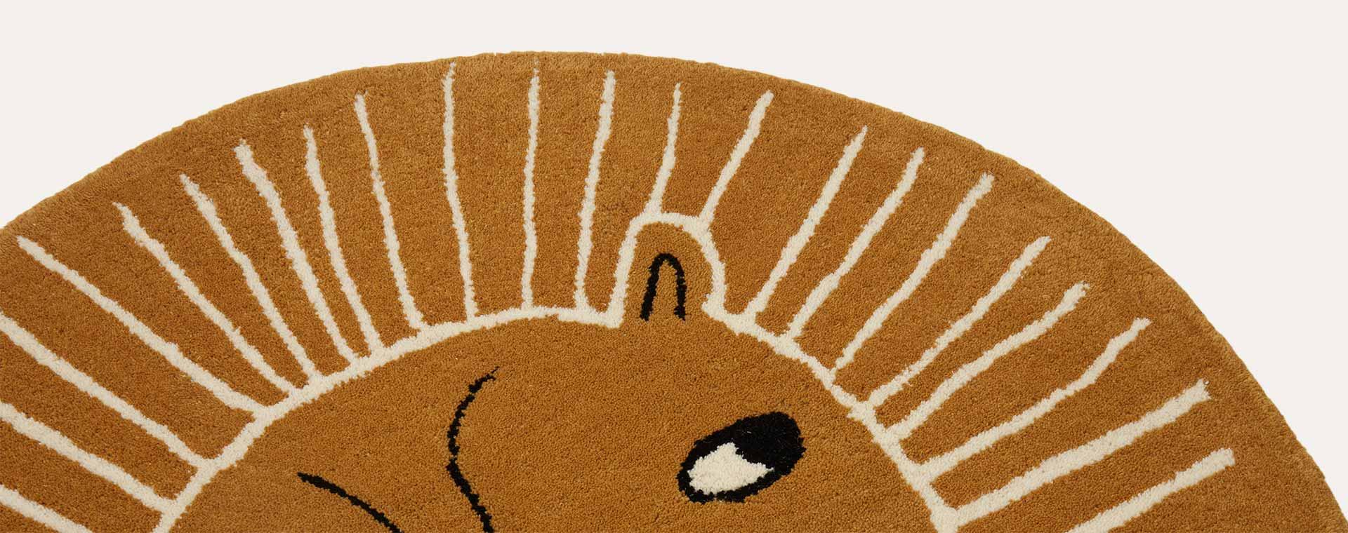 Caramel OYOY Lion Rug