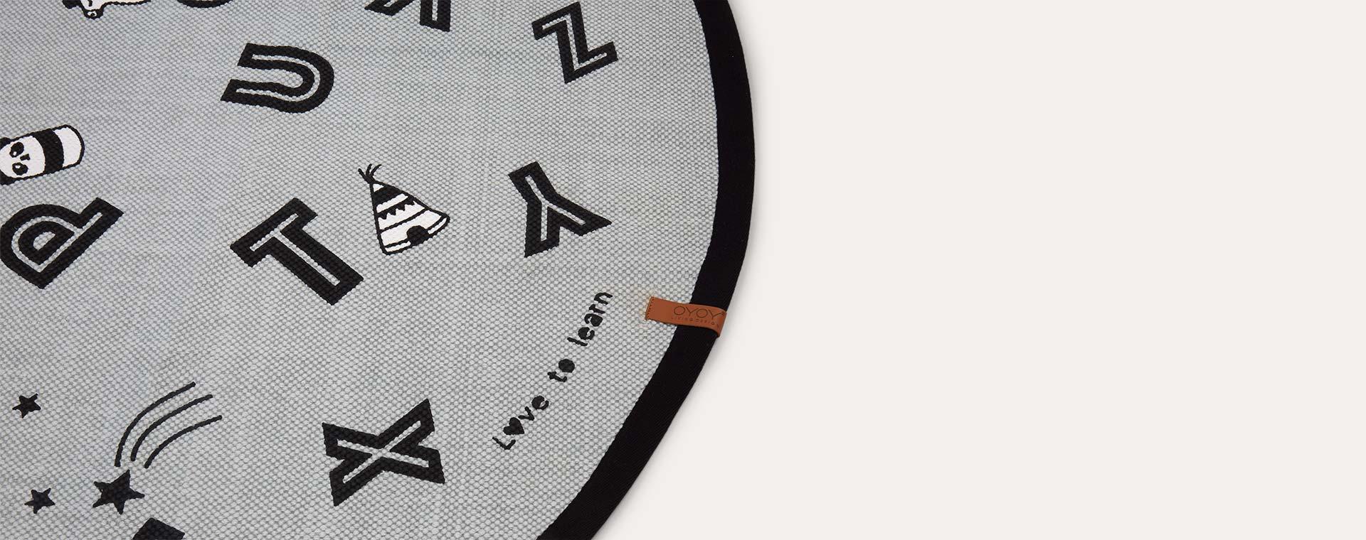 Grey OYOY Alphabet rug