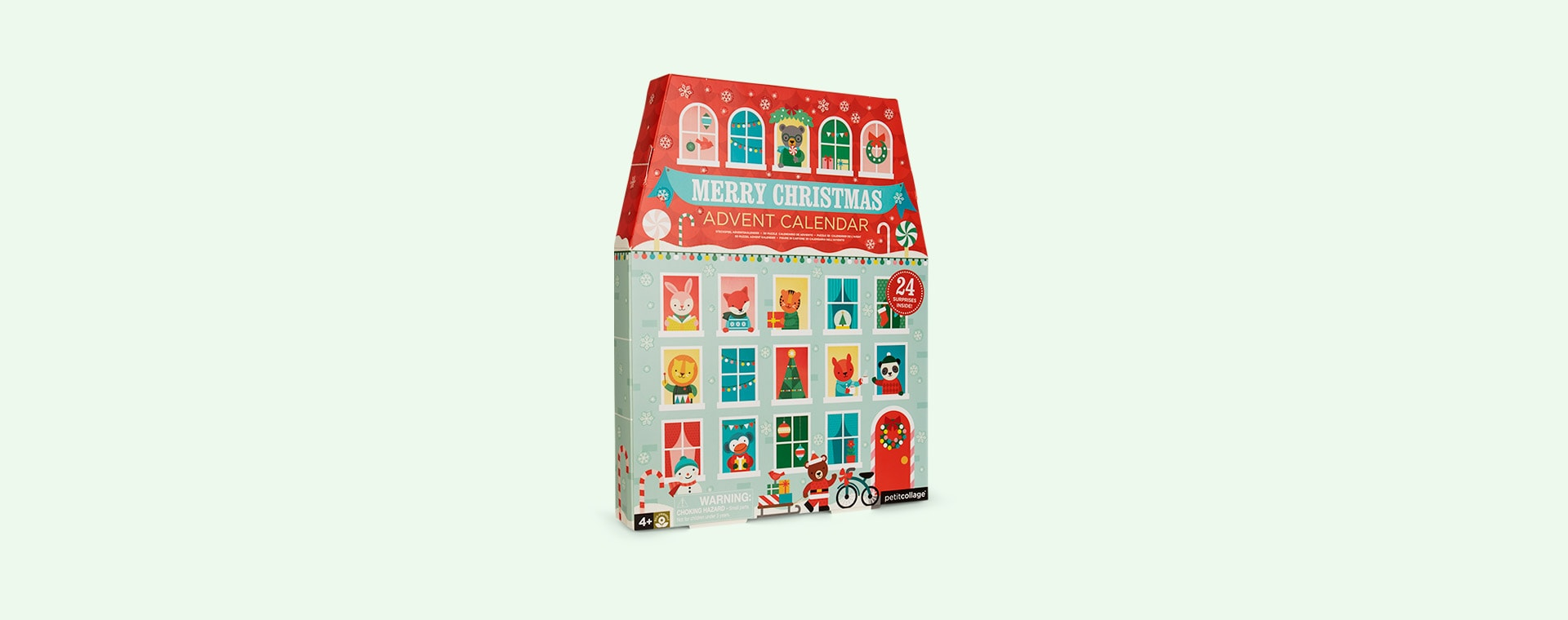Multi Petit Collage Merry Christmas Pop-Out Advent Calendar