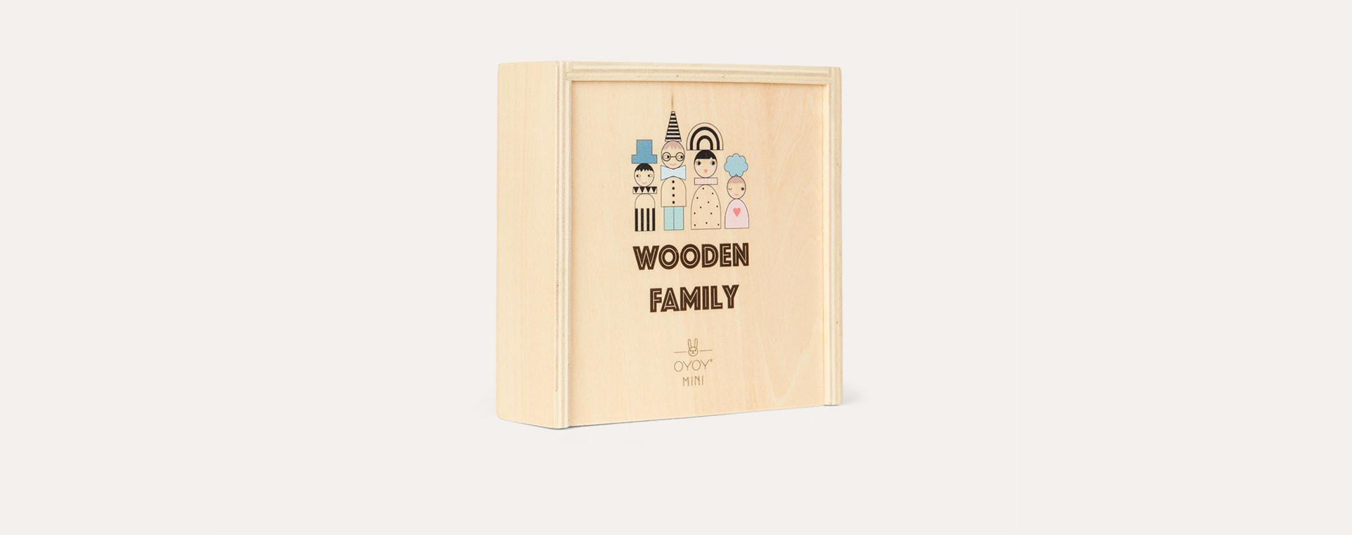 Neutral OYOY Wooden Family Bricks