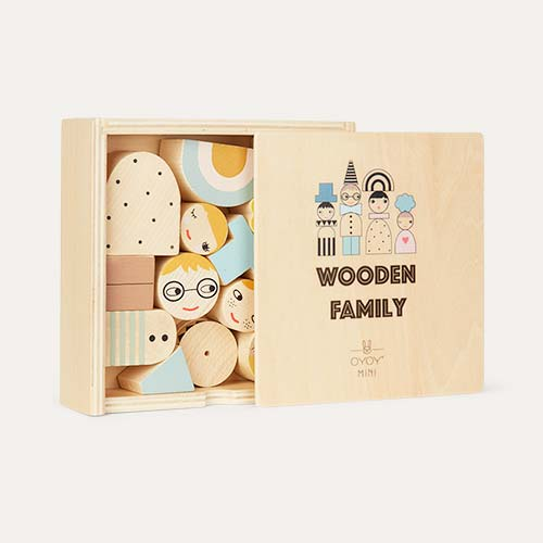 Neutral OYOY Wooden Family Bricks