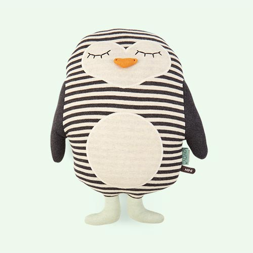 Black OYOY Penguin Pingo Cushion