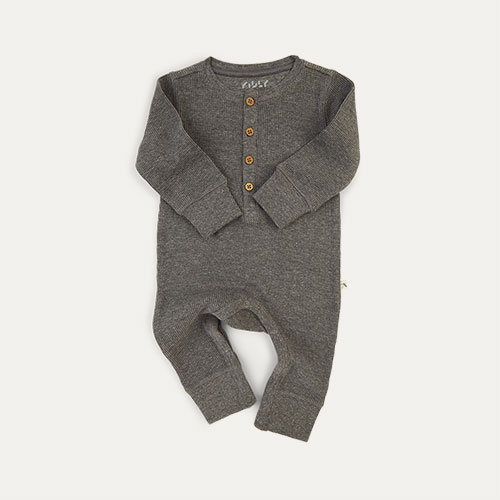Mid Grey Marl KIDLY Label Waffle All-In-One