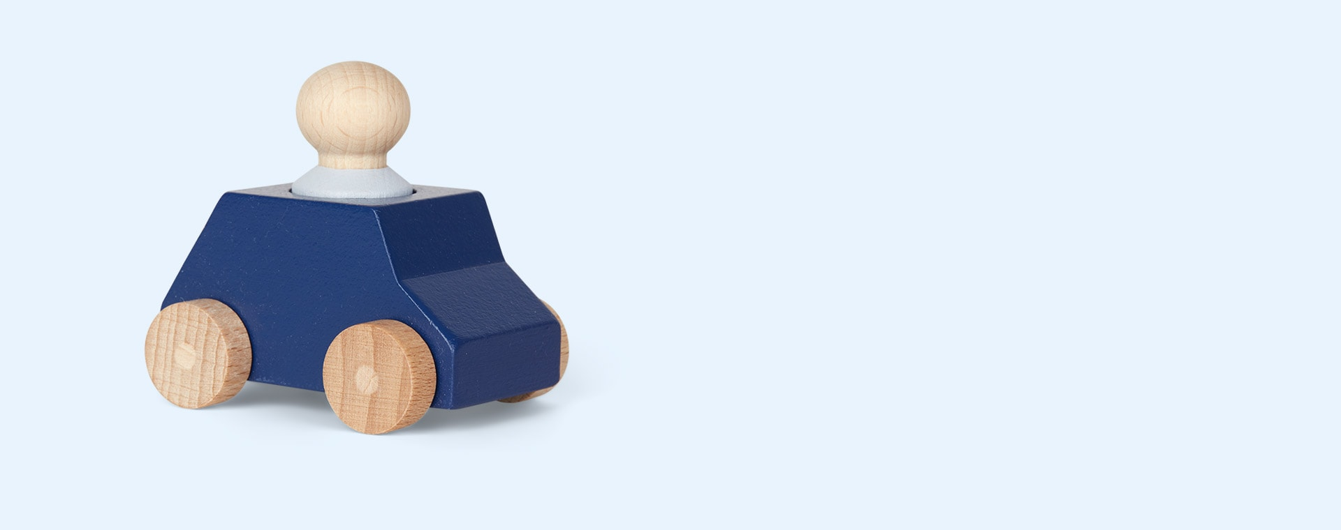 Blue Lubulona Wooden Toy Car
