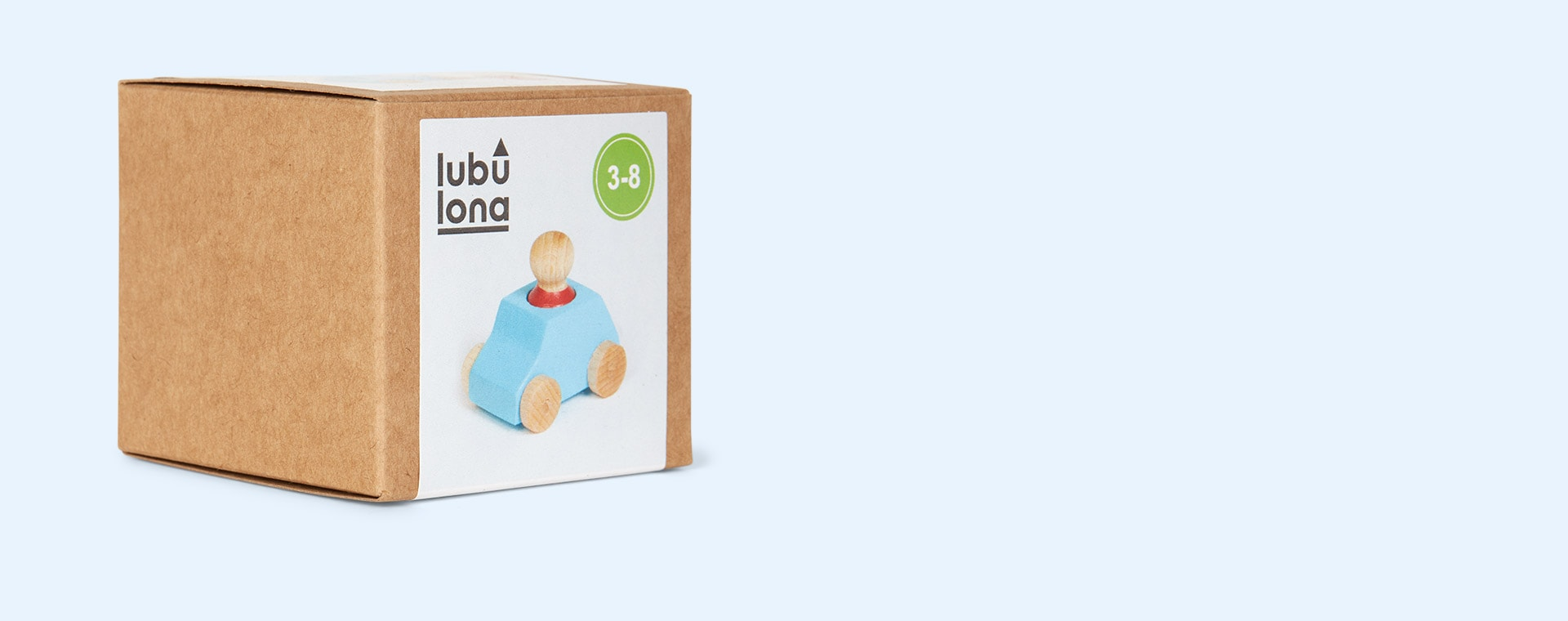 Turquoise Lubulona Wooden Toy Car