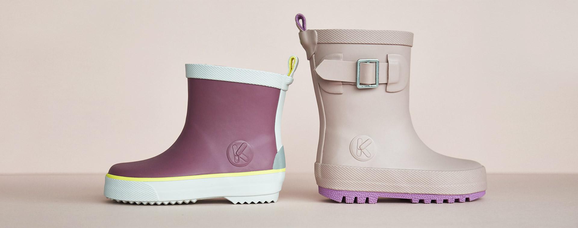 Mauve KIDLY Label Rain Boot
